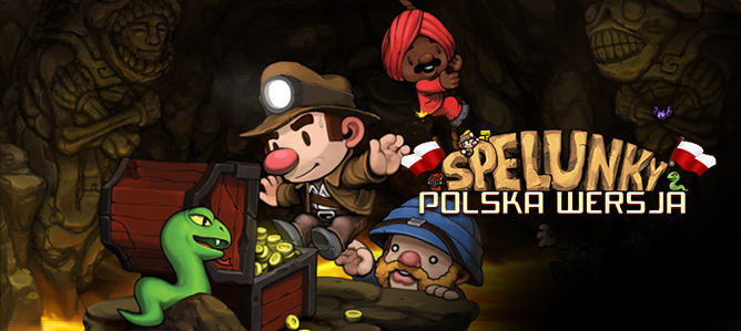 "Polish translation for ""Spelunky"" is available"
